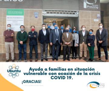 Ayuda a familias en situación vulnerable con ocasión de la crisis Covid 19