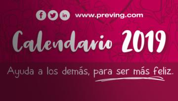 ¡Ya está disponible el calendario 2019 de Grupo Preving!