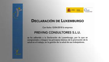 Grupo Preving se adhiere a la Declaración de Luxemburgo