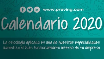 ¡Ya está disponible el calendario 2020 de Grupo Preving!