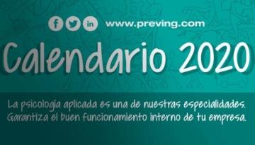 ¡Ya está disponible el calendario 2020 de Grupo Preving!