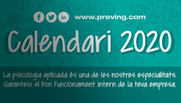 Ja està disponible el calendari 2020 de Grupo Preving!